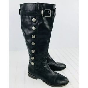 Arturo Chiang - Black Leather Riding Boots
